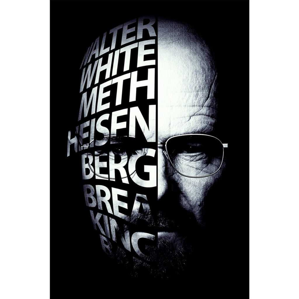 Quadro Breaking Bad Estilizado Walter White Heisenberg Face