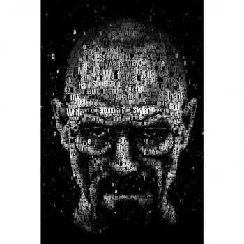 Quadro Breaking Bad Estilizado Walter White Heisenberg Words