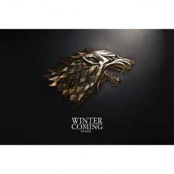 Quadro Game of Thrones Stark Lobo Decorativo