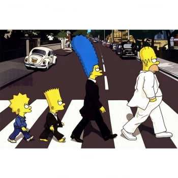 Quadro Os Simpsons Beatles Abbey Road