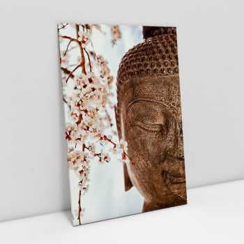 Quadro Decorativo Oriental O Buda e as Flores