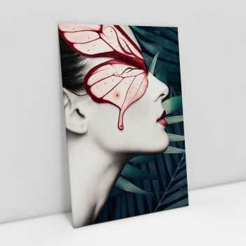 Quadro Mulher Butterfly