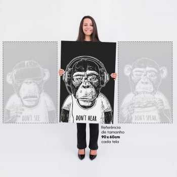 Quadro Três Macacos - Don't See, Don't Hear, Don't Speak