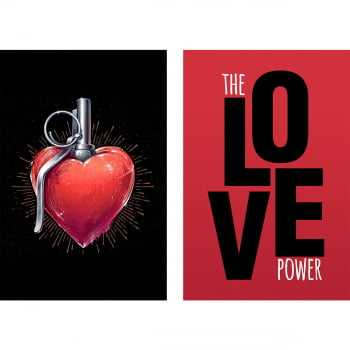 Quadro Grenade Heart - The Love Power