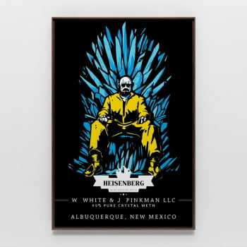 Quadro Breaking Bad Walter White Heisenberg Trono