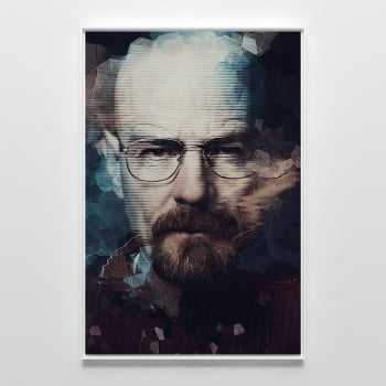 Quadro Breaking Bad Walter White Heisenberg Vintage