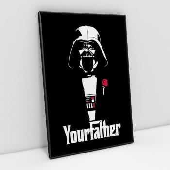 Quadro Darth Vader Poderoso Chefão - Your Father
