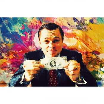 Quadro O Lobo de Wall Street (The Wolf of Wall Street) - Efeito de Pintura