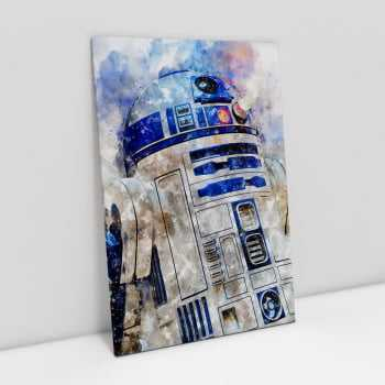 Quadro Star Wars R2-D2 Estilo Aquarela