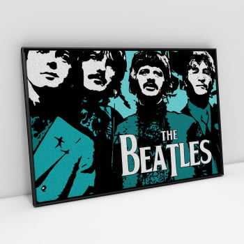 Quadro Banda Rock Beatles Vintage Retrô
