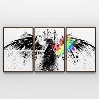 Quadro Pink Floyd Dark Side Eagle Banda Rock